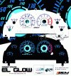 Ford Mustang Option Racing Indiglo Gauge Face Overlay Set - 58-18120