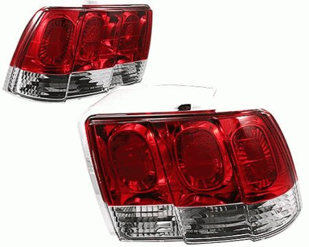 Mustang APC G1 Red and Clear Taillights - 404148TLCR