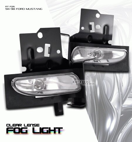 Mustang Ford Mustang Option Racing Fog Light Kit - 28-18122