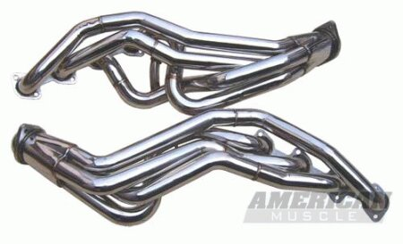 Mustang Ford Mustang Pypes Polished 304 Stainless Steel Long Tube Headers - 20033