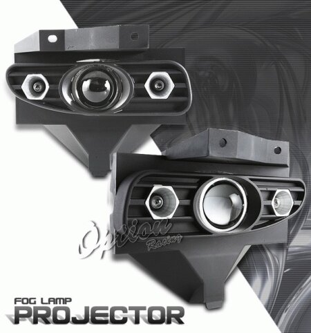 Mustang Ford Mustang Option Racing Fog Light Kit - Halo Projector - 28-18246