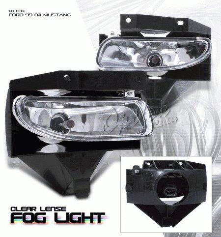 Mustang Ford Mustang Option Racing Fog Light Kit - Chrome - 28-18125