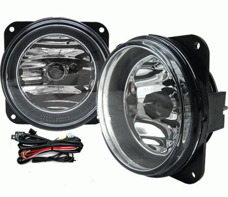 Mustang Ford Mustang 4 Car Option Fog Light Kit with Switch - Clear - LHF-FM99SVTC