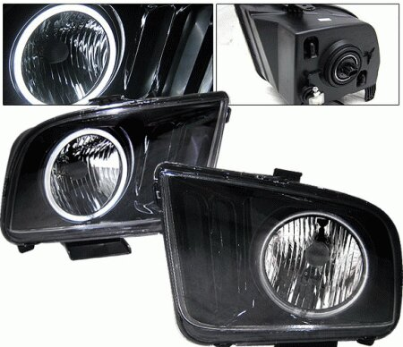Mustang Ford Mustang 4 Car Option Halo Headlights - Black - LH-FM05BR-KS