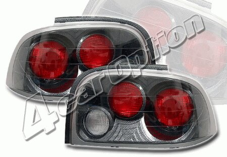 Mustang Ford Mustang 4 Car Option Altezza Taillights - Carbon Fiber Style - LT-FM96F-YD
