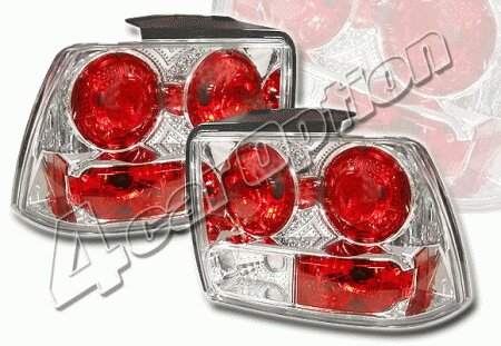 Mustang Ford Mustang 4 Car Option Altezza Taillights - Chrome - LT-FM99A-YD