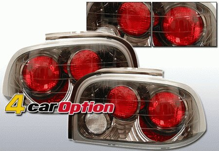 Mustang Ford Mustang 4 Car Option Altezza Taillights - Gunmetal - LT-FM96G-YD