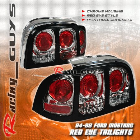Mustang Chrome Cobra Altezza Taillights