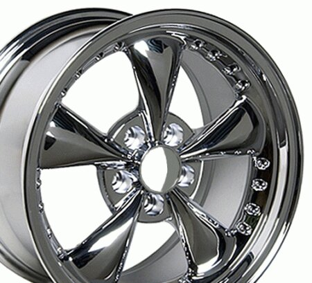 Mustang Bullet Style Wheel Chrome - Mustang 17 Inch 4 Wheel Package