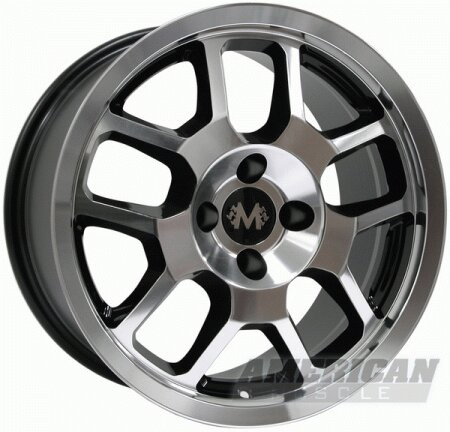 Mustang Ford Mustang Black Machined Shelby GT500 Wheel