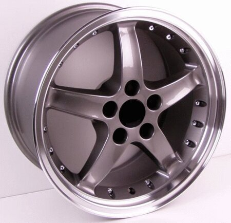 Mustang Cobra Style Wheel Gunmetal - Mustang 17 Inch 4 Wheel Package