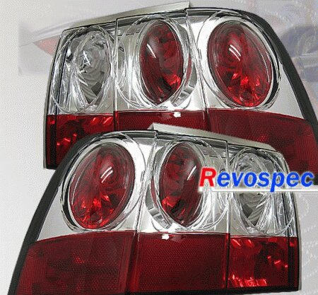Mustang Chrome Clear Taillights