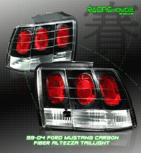 Mustang Euro Carbon Altezza Taillights