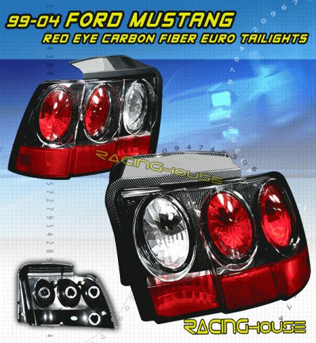 Mustang Euro Red Eye Carbon Taillights