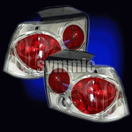 Mustang Euro Red Clear Taillights